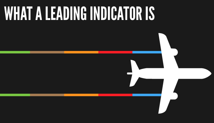 What a leading indicator is graphic